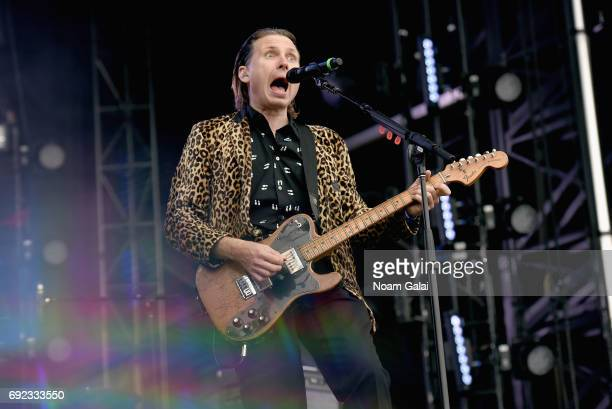 Alex Kapranos of Franz Ferdinand performs onstage during the 2017 Governors Ball Music Festival Day 3 at Randall's Island on June 4 2017 in New York...