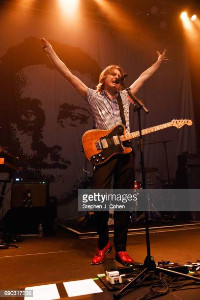 Alex Kapranos of the band Franz Ferdinand performs at Mercury Ballroom on May 30 2017 in Louisville Kentucky