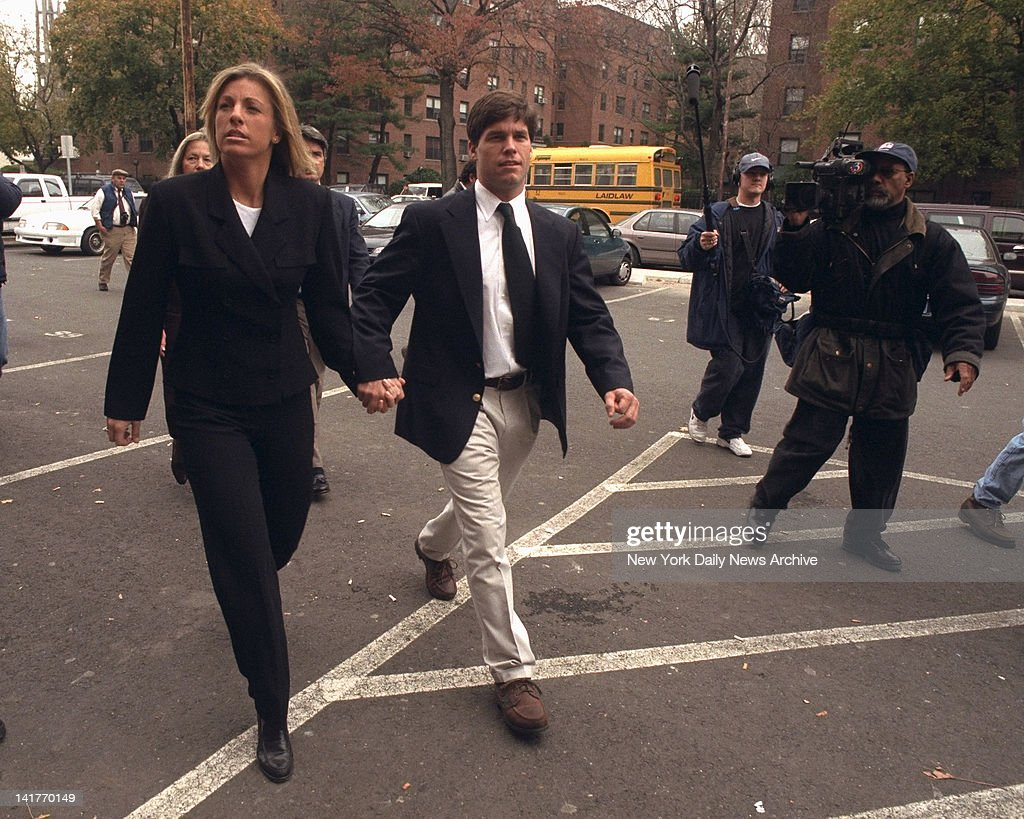 Alex Kelly arrives at the Stamford Superior Courthouse with his girlfriend Amy Molitor