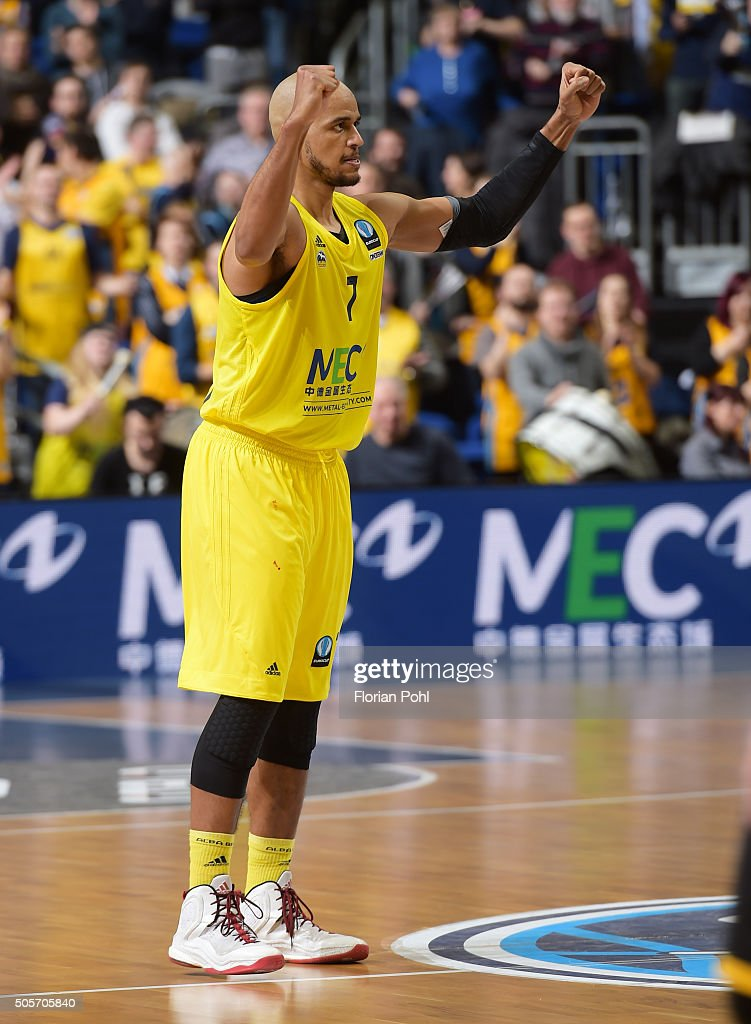 Alex King of ALBA Berlin during the game between Alba Berlin and Aris Thessaloniki on January 19 2016 in Berlin Germany