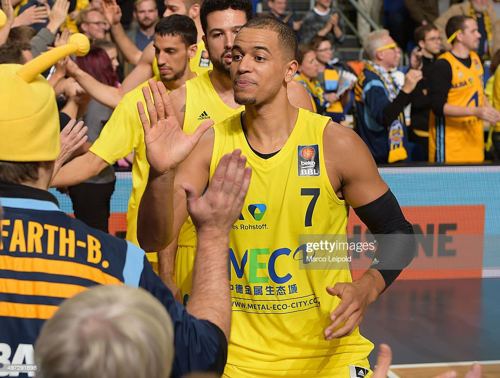 Alex King of ALBA Berlin during the game between Alba Berlin and FC Bayern Muenchen on November 15 2015 in Berlin Germany