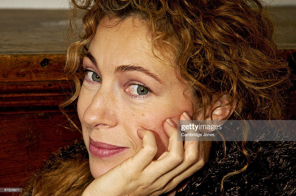 Alex Kingston poses during a photo call held on January 14, 2005 at her home in Austria.
