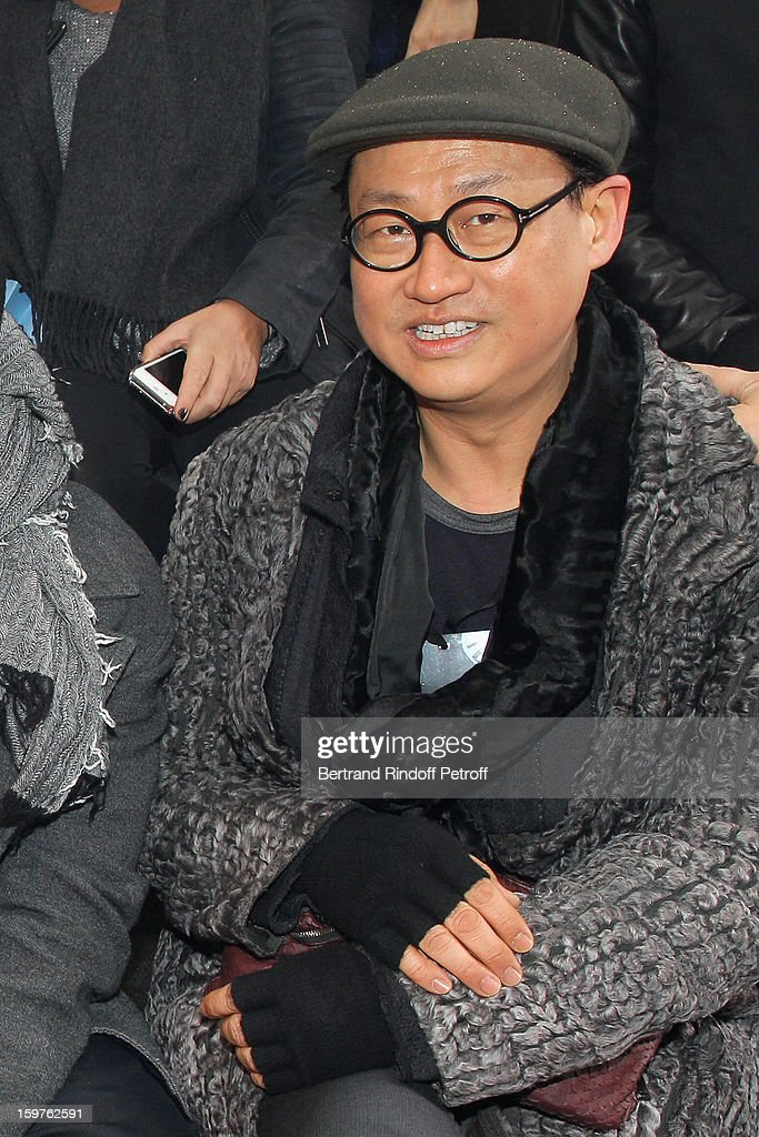 Alex Koo attends the Lanvin Men Autumn / Winter 2013 show at Ecole Nationale Superieure Des Beaux-Arts as part of Paris Fashion Week on January 20, 2013 in Paris, France.