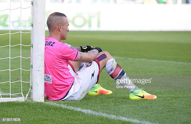 Alex Kordaz goalkeeper of FC Crotone shows his dejection after Iemello's goal during the Serie A match between US Sassuolo and FC Crotone at Mapei...