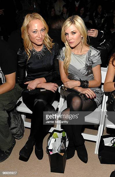 Alex Kramer and Tinsley Mortimer attends the Charlotte Ronson Fall 2010 Fashion Show during MercedesBenz Fashion Week at The Tent at Bryant Park on...