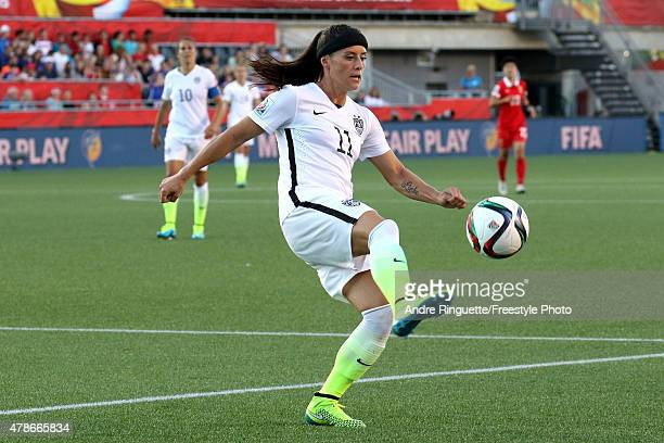 Alex Krieger of the United States controls the ball in the first half against China in the FIFA Women's World Cup 2015 Quarter Final match at...