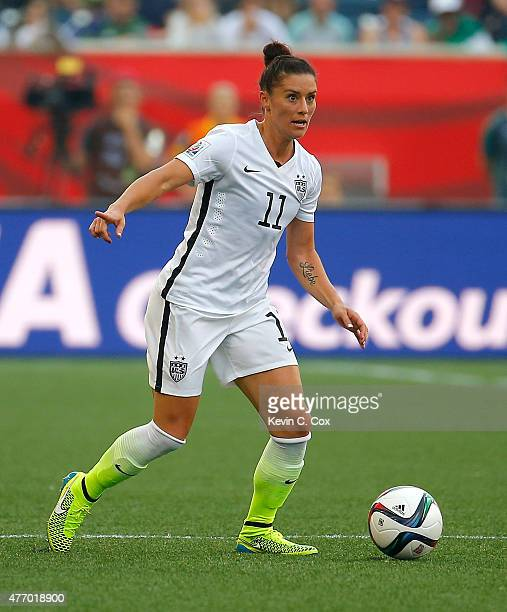 Alex Krieger of the United States of America against Australia during the FIFA Women's World Cup Canada 2015 Group D match between the United States...