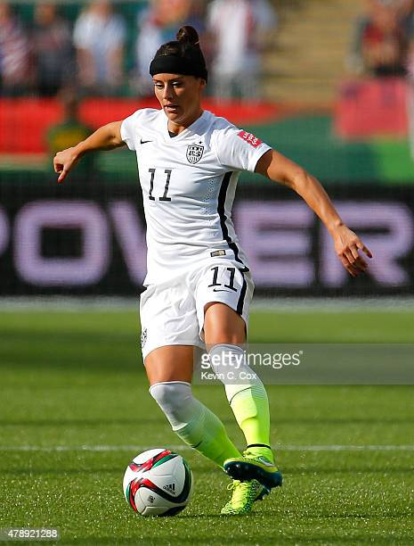 Alex Krieger of the United States of America against Colombia during the FIFA Women's World Cup Canada 2015 Round of 16 match between the United...