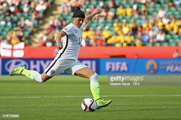 Alex Krieger of United States of America in action during the FIFA Women's World Cup Canada 2015 Round of 16 match between the United States and...