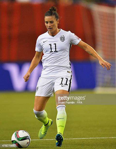 Alex Krieger of USA in actionduring the FIFA Women's World Cup Semi Final match between USA and Germany at Olympic Stadium on June 30 2015 in...