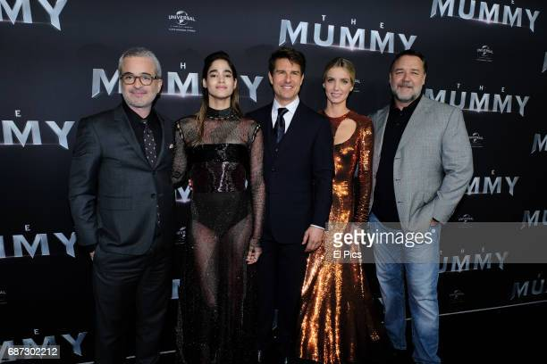 Alex Kurtzman Sofia Boutella Tom Cruise Annabelle Wallis and Russell Crowe arrives ahead of The Mummy Australian Premiere at State Theatre on May 22...