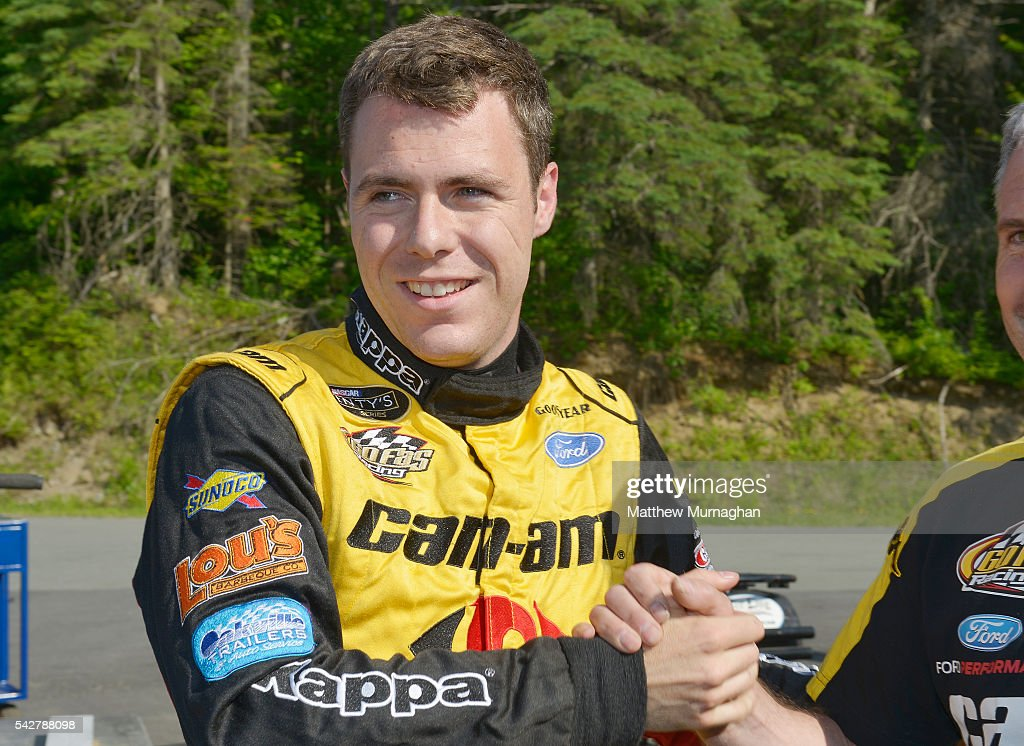 Alex Labbe, driver of the #32 Can-Am/Kappa/Cyclops Gear Ford wins the pole position after being fastest in qualifying at the CRS Express 300 at Autodrome Chaudiere on June 24, 2016 in Vallee-Jonction, Quebec, Canada.