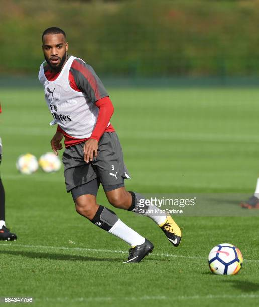 Alex Lacazette of Arsenal during a training session at London Colney on October 21 2017 in St Albans England