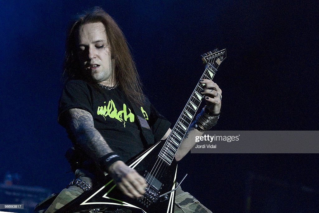 Alex Lahio of Children of Bodom performs on stage during day 1 of the Monsters of Rock Festival 2007 at Feria de Muestras on June 22 2007 in Zaragoza...