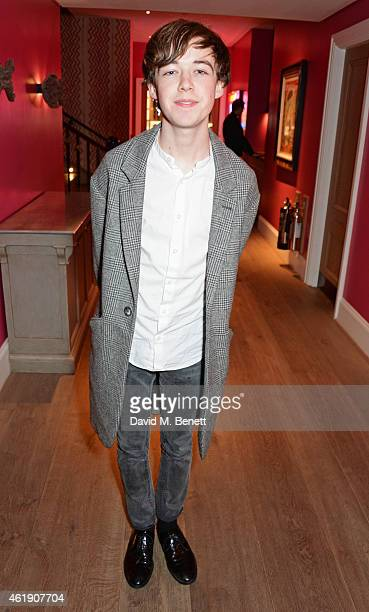 Alex Lawther attends a special screening of 'The Imitation Game' followed by a QA hosted by Stephen Fry at The Ham Yard Hotel on January 21 2015 in...