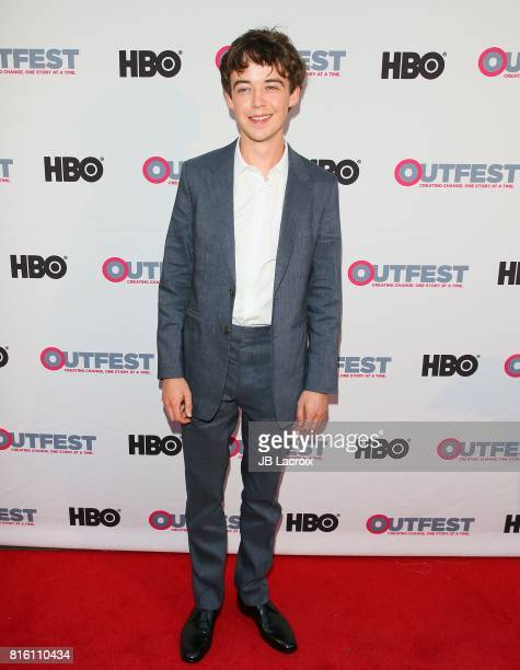 Alex Lawther attends the 2017 Outfest Los Angeles LGBT Film Festival Closing Night Gala Screening Of ''Freak Show' on July 16 2017 in Los Angeles...