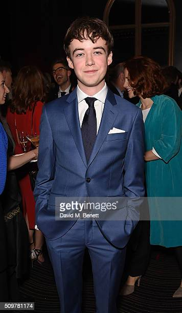 Alex Lawther attends the GQ and Hackett PreBAFTA party celebrating Hackett's fifth year as the Official Menswear Stylist to the EE British Academy...