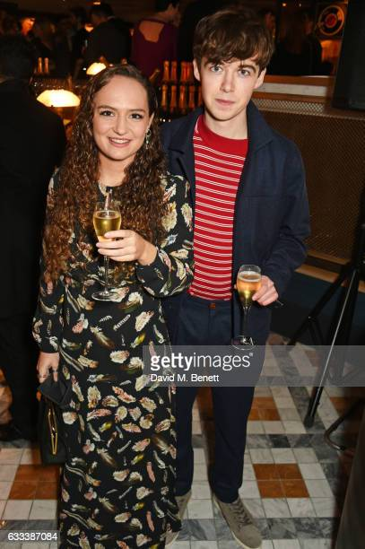 Alex Lawther attends the InStyle EE Rising Star Party ahead of the EE BAFTA Awards at The Ivy Soho Brasserie on February 1 2017 in London England