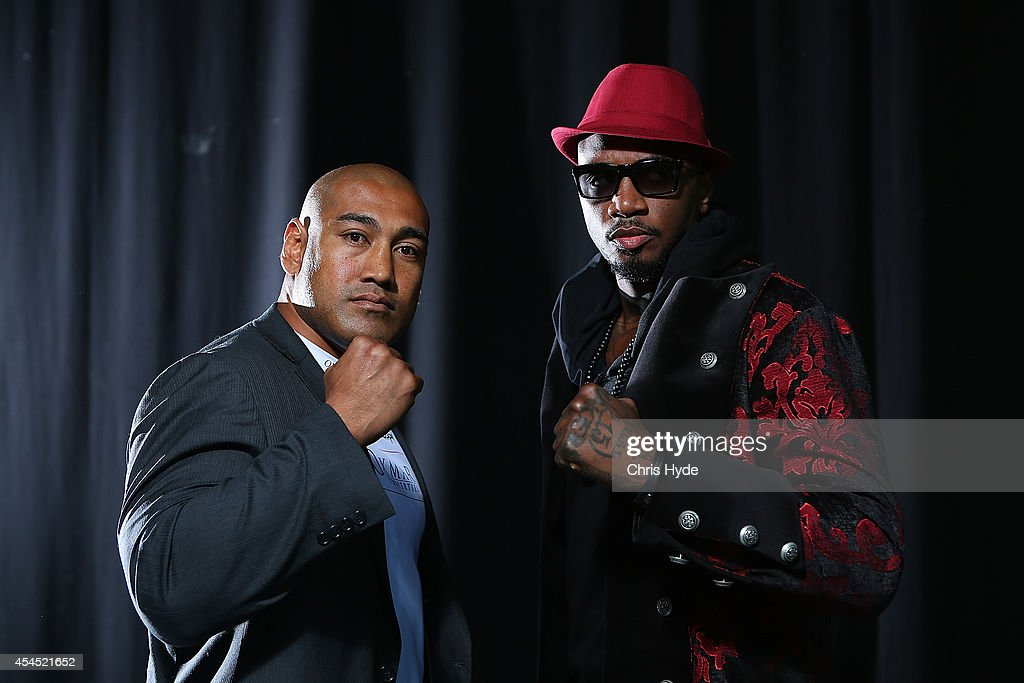 <a gi-track='captionPersonalityLinkClicked' href=/galleries/search?phrase=Alex+Leapai&family=editorial&specificpeople=7461038 ng-click='$event.stopPropagation()'>Alex Leapai</a> of Australia and Malik Scott of the USA face off before their October bout at the Brisbane Entertainment Centre on September 3, 2014 in Brisbane, Australia.