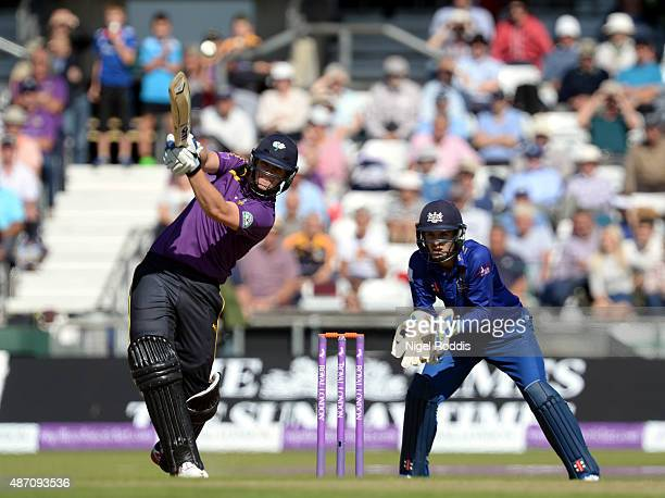 Alex Lees of Yorkshire Vikings in action during the Royal London OneDay Cup Semi Final between Yorkshire Vikings and Gloucestershire at Headingley on...