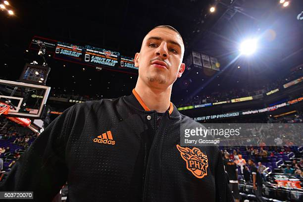 Alex Len of the Phoenix Suns before the game against the Charlotte Hornets on January 6 2016 at US Airways Center in Phoenix Arizona NOTE TO USER...
