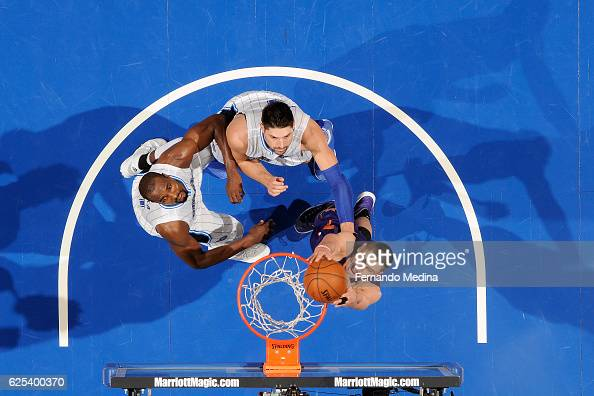 Alex Len of the Phoenix Suns dunks the ball during the game against the Orlando Magic on November 23 2016 at Amway Center in Orlando Florida Or NOTE...