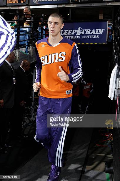 Alex Len of the Phoenix Suns heads into the arena prior to the game against the Sacramento Kings on November 19 2013 at Sleep Train Arena in...