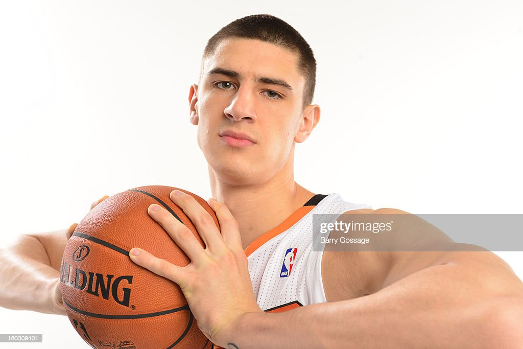Alex Len #21 of the Phoenix Suns poses for a picture in the new Sun's uniforms on September 9, 2013 at U.S. Airways Center in Phoenix, Arizona.