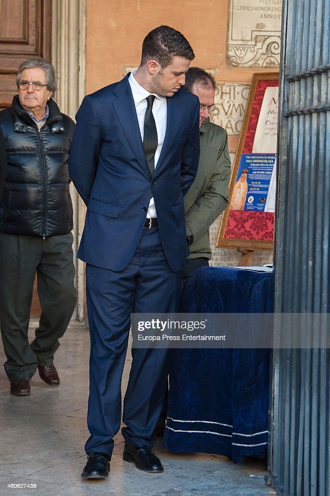 Alex Lequio attends the funeral for Prince of Civitella-Cesi, Marco Torlonia, at San Lorenzo in Lucina church on December 9, 2014 in Rome, Italy.