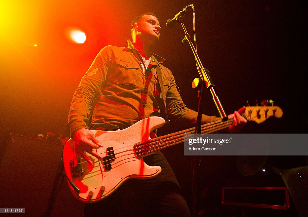 Alex Levine from The Gaslight Anthem performs at O2 Academy on March 22, 2013 in Bristol, England.