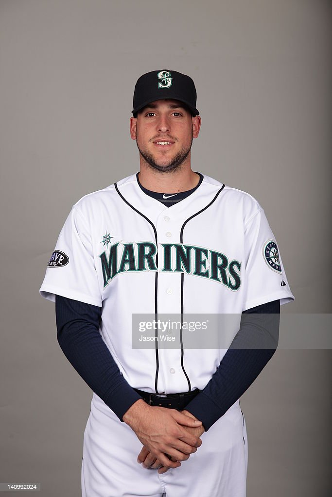 Alex Liddi of the Seattle Mariners poses during Photo Day on Tuesday February 21 2012 at Peoria Sports Complex in Peoria Arizona