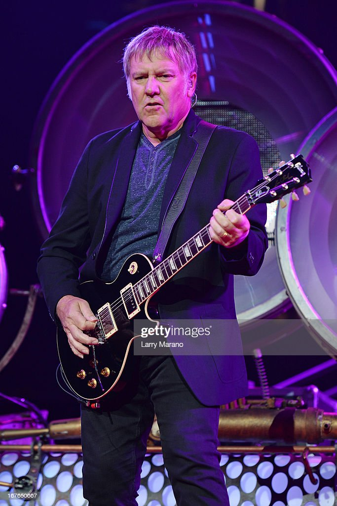 <a gi-track='captionPersonalityLinkClicked' href=/galleries/search?phrase=Alex+Lifeson&family=editorial&specificpeople=228149 ng-click='$event.stopPropagation()'>Alex Lifeson</a> of Rush performs at BB&T Center on April 26, 2013 in Sunrise, Florida.