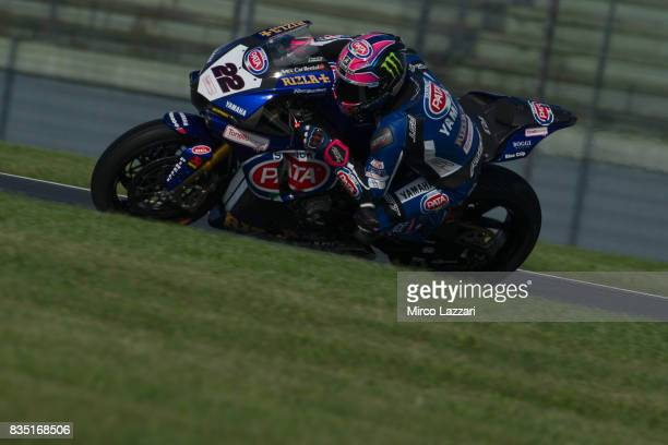 Alex Lowes of Great Britain and PATA Yamaha Official WorldSBK Team rounds the bend during the FIM Superbike World Championship Qualifying at...