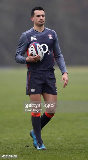 Alex Lozowski looks on during the England training session held at Pennyhill Park on January 31 2017 in Bagshot England