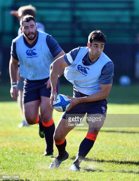 Alex Lozowski of England looks for a pass during a training session at San Isidro Club on June 14 2017 in Buenos Aires Distrito Federal