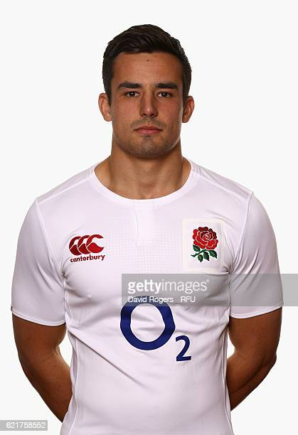 Alex Lozowski of England poses for a portrait during the England Elite Player Squad photo call at Pennyhill Park on November 8 2016 in Bagshot England