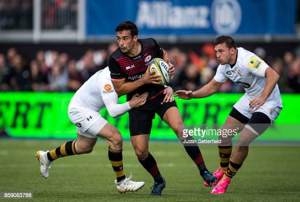 Alex Lozowski of Saracens in action during the Aviva Premiership match between Saracens and Wasps at Allianz Park on October 8 2017 in Barnet England