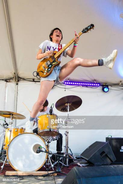 Alex Luciano of Diet Cig performs at the 6th annual Strange Brew party during SXSW at Hotel Vegas on March 13 2017 in Austin Texas