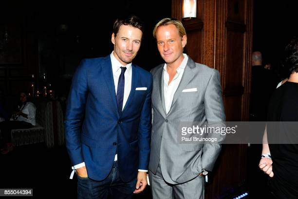 Alex Lundqvist and Daniel Benedict attend Netflix hosts the after party for the New York Premiere of 'Our Souls at Night' at The Plaza Hotel on...