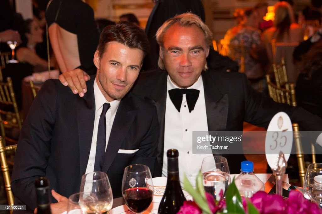 Alex Lundqvist and Johan Ernst Nilson attend the amfAR Inspiration Gala New York 2014 at The Plaza Hotel on June 10, 2014 in New York City.