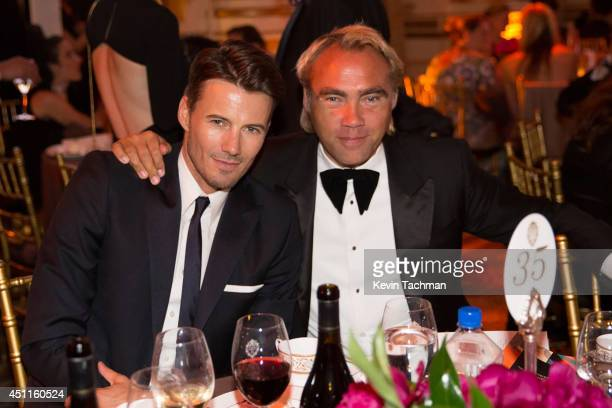 Alex Lundqvist and Johan Ernst Nilson attend the amfAR Inspiration Gala New York 2014 at The Plaza Hotel on June 10 2014 in New York City