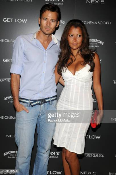 Alex Lundqvist and Keytt Lundqvist attend THE CINEMA SOCIETY SONY ALPHA NEX host a screening of 'GET LOW' at Tribeca Grand Hotel on July 21 2010 in...