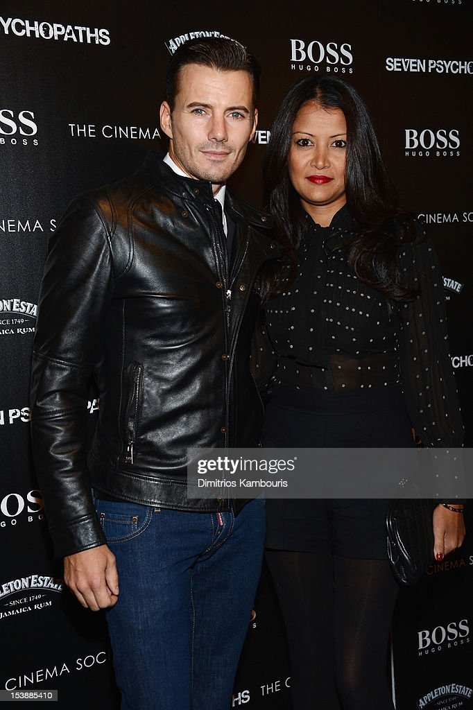 Alex Lundqvist and Keytt Lundqvist attend The Cinema Society with Hugo Boss and Appleton Estate screening of 'Seven Psychopaths' at Clearview Chelsea Cinemas on October 10, 2012 in New York City.