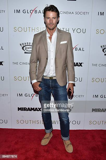 Alex Lundqvist attends the Cinema Society screening of 'Southside With You' hosted by Miramax Roadside Attractions and IM Global at Landmark's...