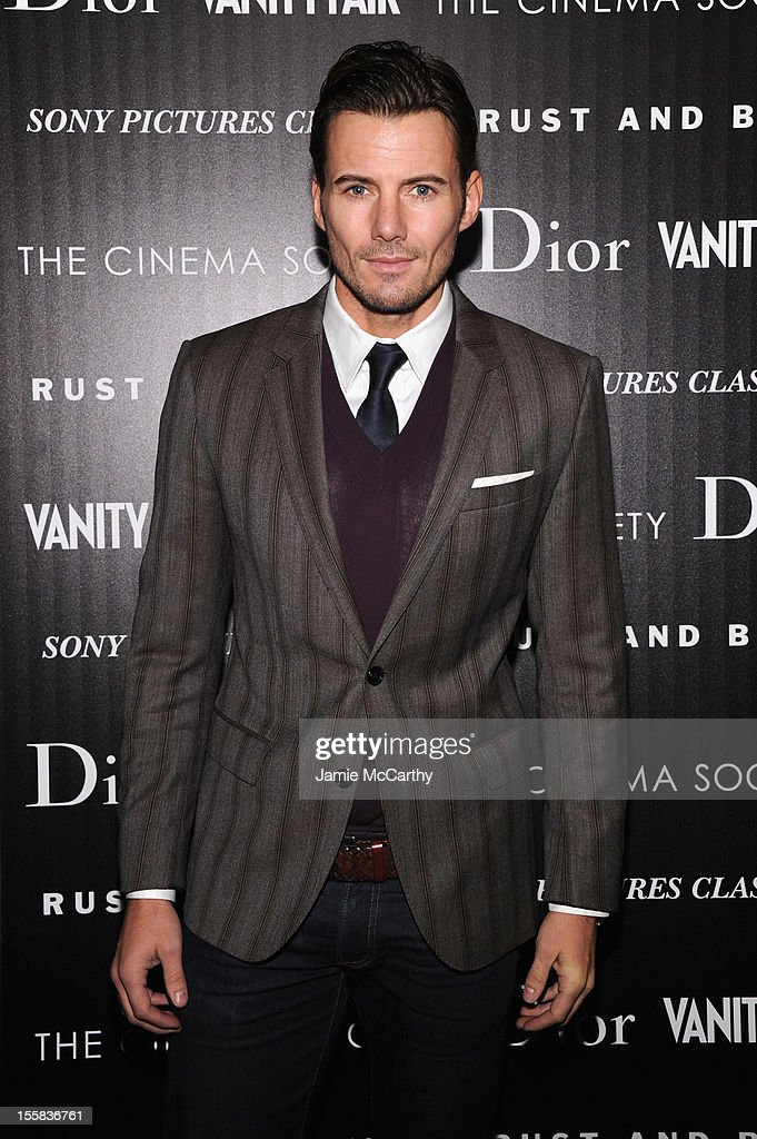 Alex Lundqvist attends The Cinema Society with Dior & Vanity Fair screening of 'Rust and Bone' at Landmark's Sunshine Cinema on November 8, 2012 in New York City.