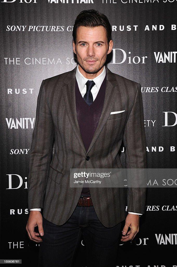Alex Lundqvist attends The Cinema Society with Dior & Vanity Fair screening of 'Rust and Bone' at Landmark's Sunshine Cinema on November 8, 2012 in New York City.