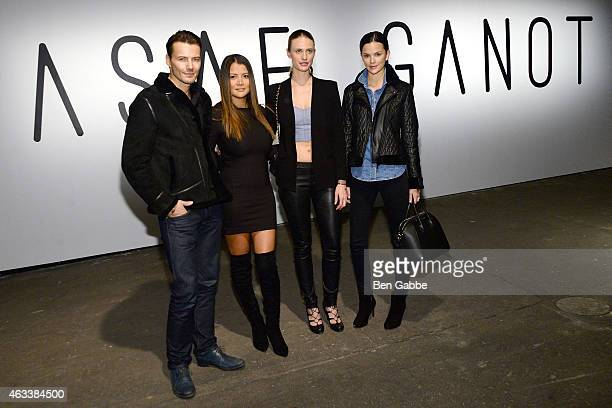 Alex Lundqvist Keytt Lundqvist Julie Henderson and Allie Rizzo attend the Asaf Ganot fashion show during MercedesBenz Fashion Week Fall 2015 on...