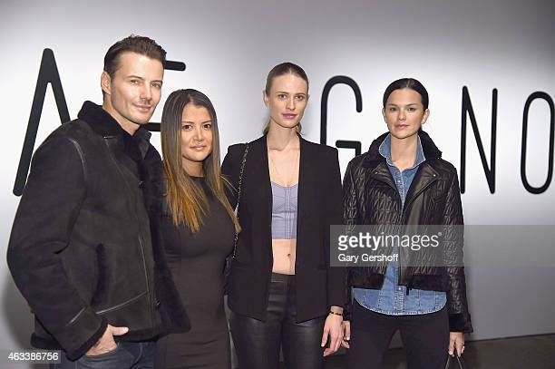 Alex Lundqvist Keytt Lundqvist Julie Henderson and Allie Rizzo attend the Asaf Ganot show during MercedesBenz Fashion Week Fall 2015 at ArtBeam on...