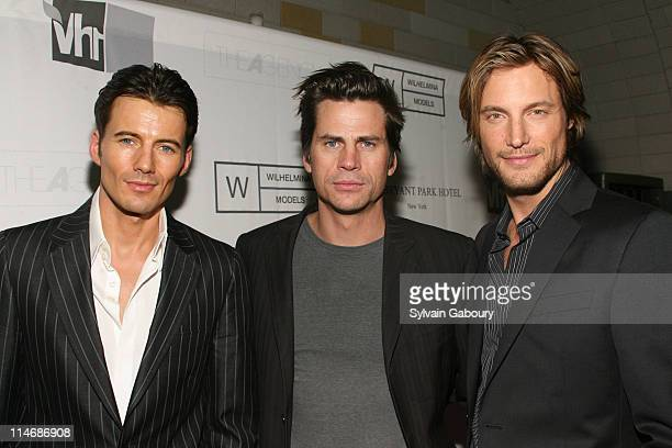 Alex Lundqvist Mark Vanderloo and Gabriel Aubry during Wilhelmina Models and VH1 Launched the New Reality Series 'The Agency' Screening and After...
