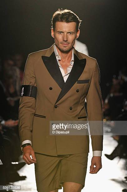 Alex Lundqvist walks the runway during the 7th Annual amfAR Inspiration Gala at Skylight at Moynihan Station on June 9 2016 in New York City